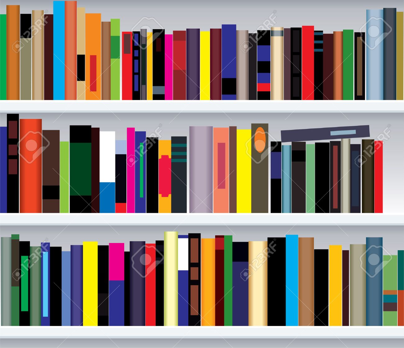 Illustration Of Modern Bookshelf Royalty Free Cliparts Vectors