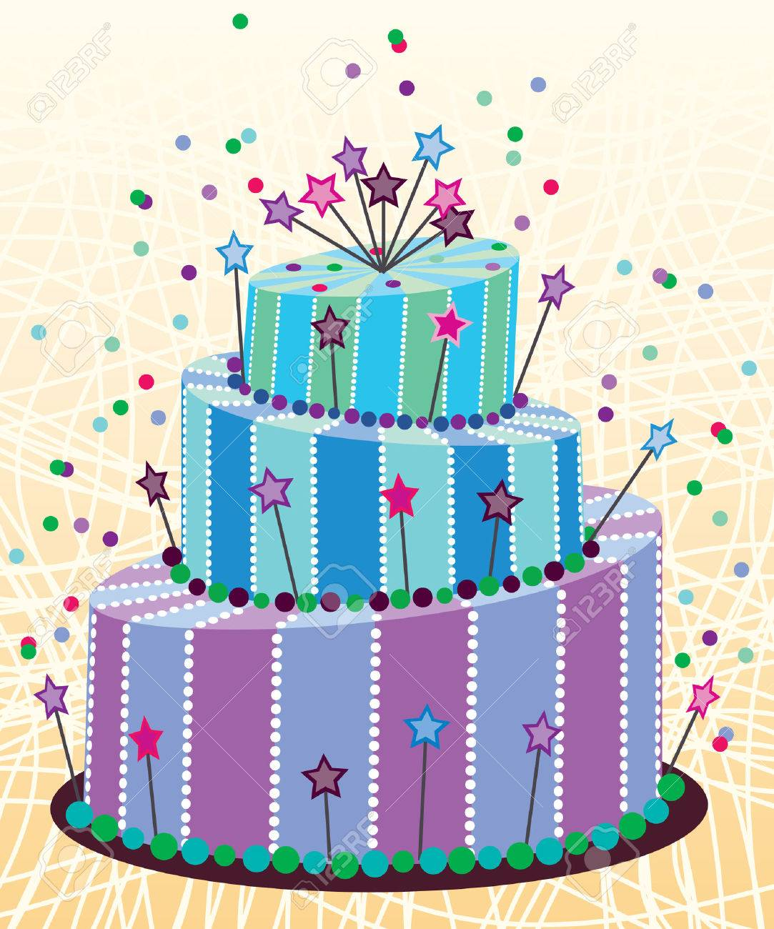 big birthday cake Stock Vector - 8694888