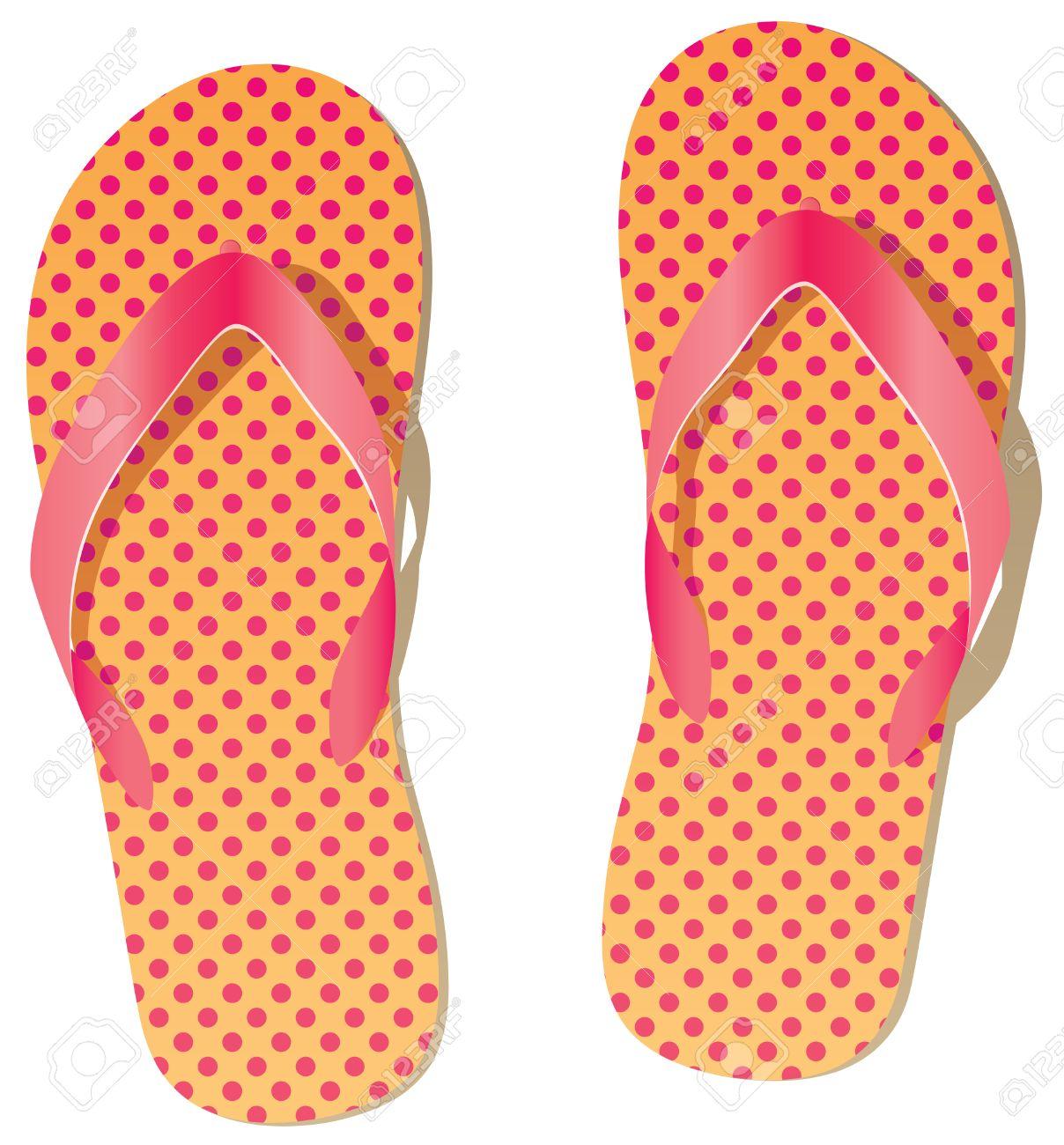 pair of flip flops Stock Vector - 8694884
