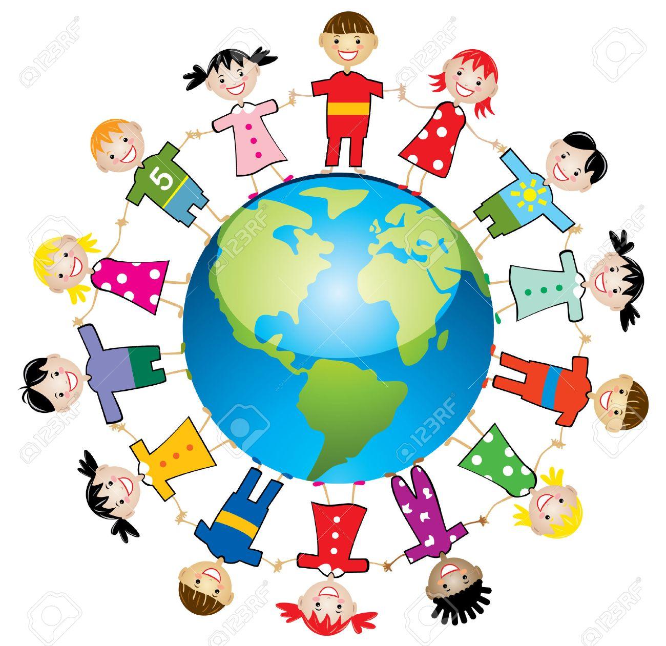 illustration of children around the world royalty free cliparts rh 123rf com