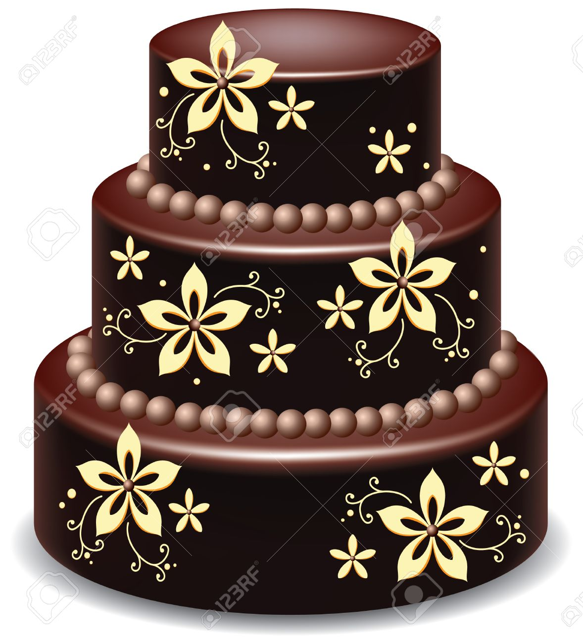 big delicious chocolate cake Stock Vector - 8977778