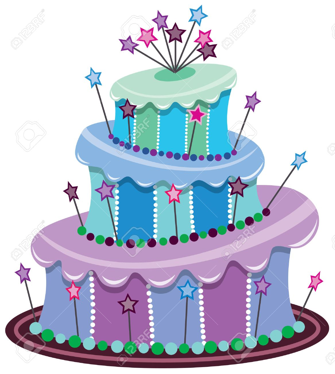 Astounding Big Birthday Cake Royalty Free Cliparts Vectors And Stock Funny Birthday Cards Online Alyptdamsfinfo
