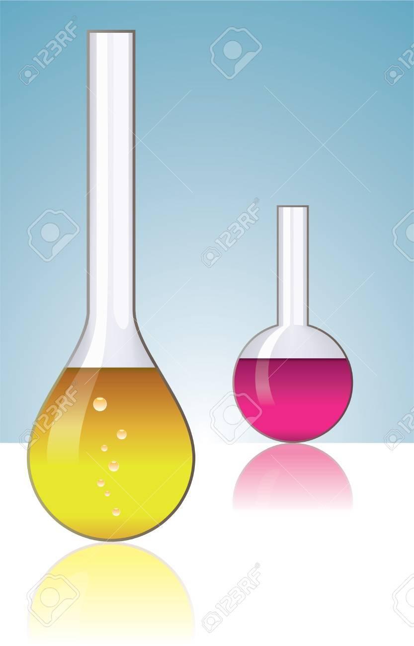 set of laboratory glassware Stock Vector - 9170149
