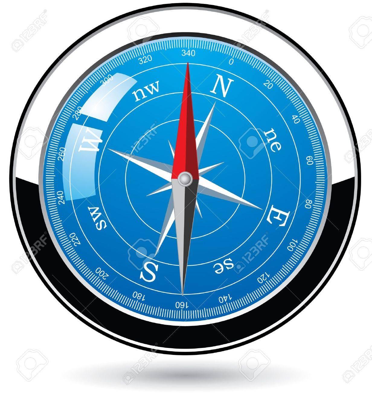 vector metal compass Stock Vector - 9450827
