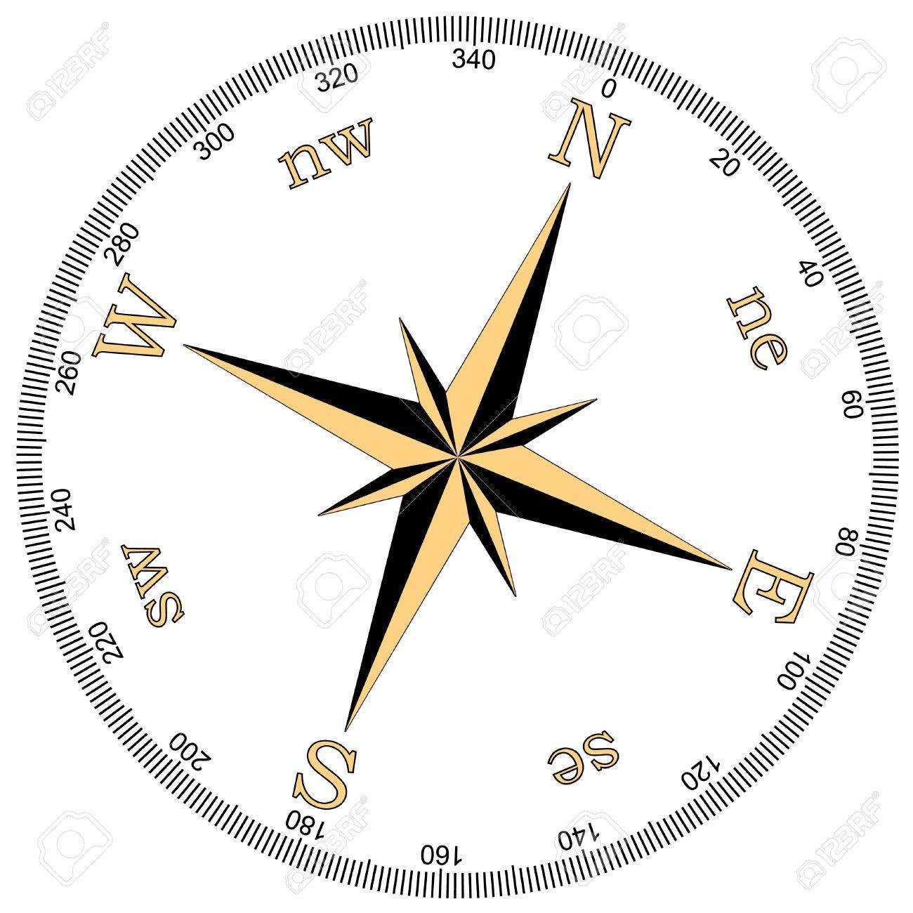 vector illustration of compass Stock Vector - 9511855