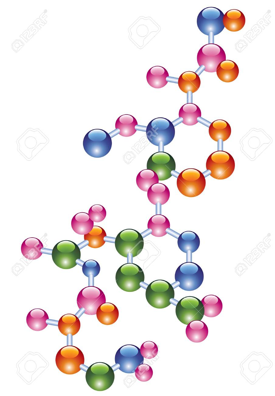 vector abstract molecule Stock Vector - 9511856