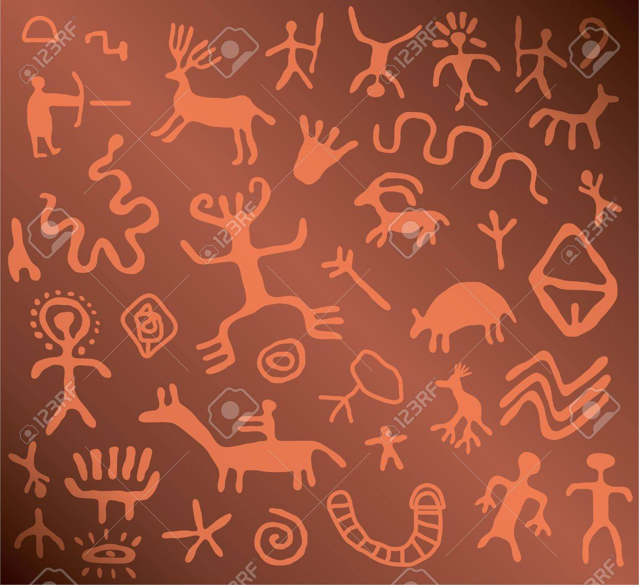 ancient petroglyphs - 9924273