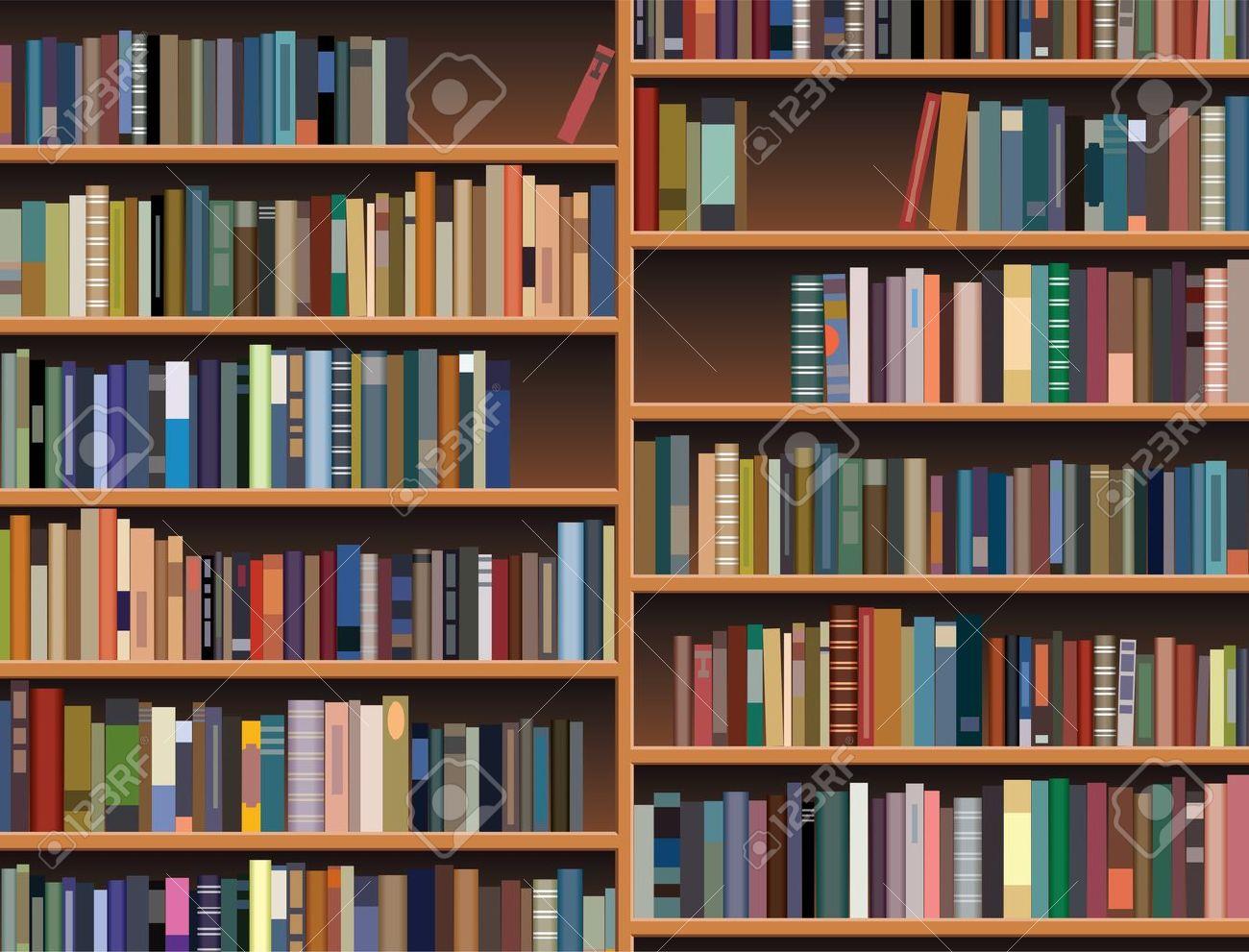 wooden bookshelf Stock Vector - 10099133