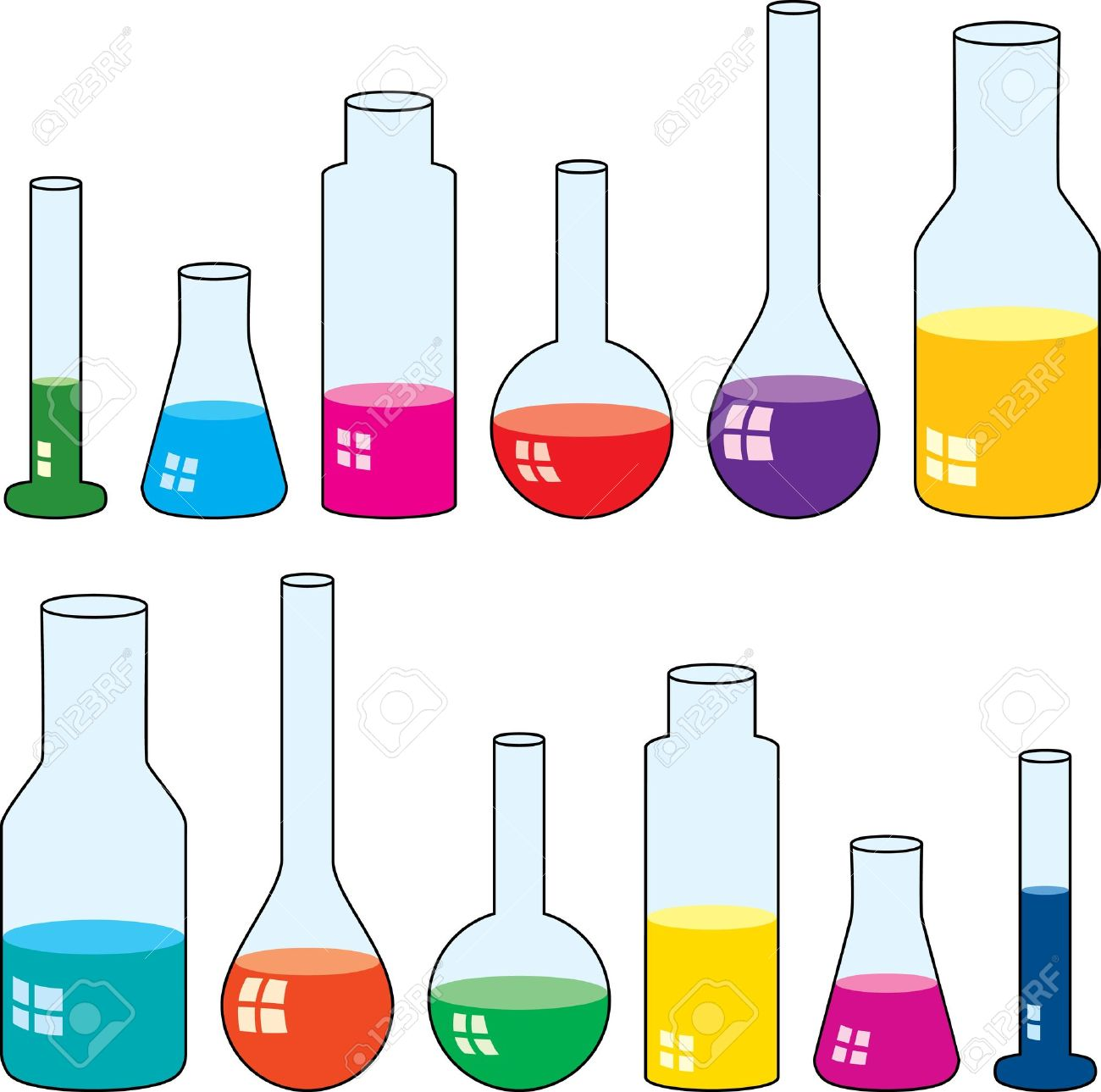 Clipart Of Laboratory Glassware Stock Vector