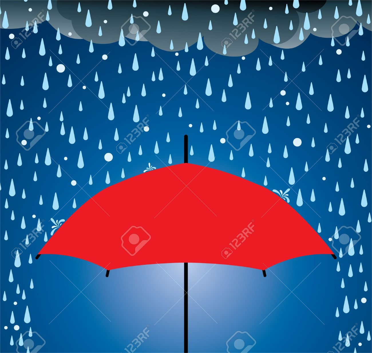 Illustration of umbrella protection from rain and hail Stock Vector - 10501646