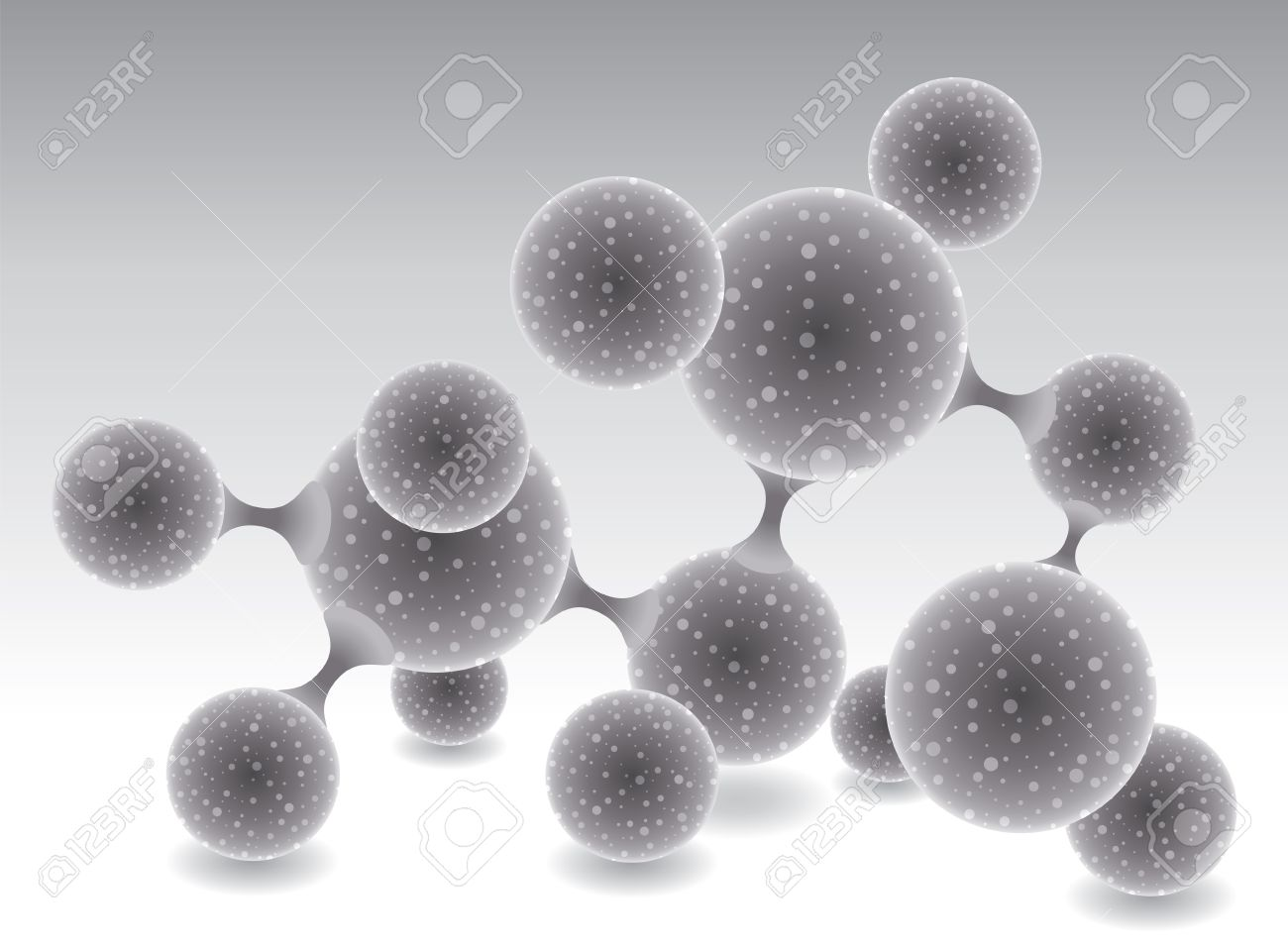 vector abstract molecule or microbe background Stock Vector - 11162040