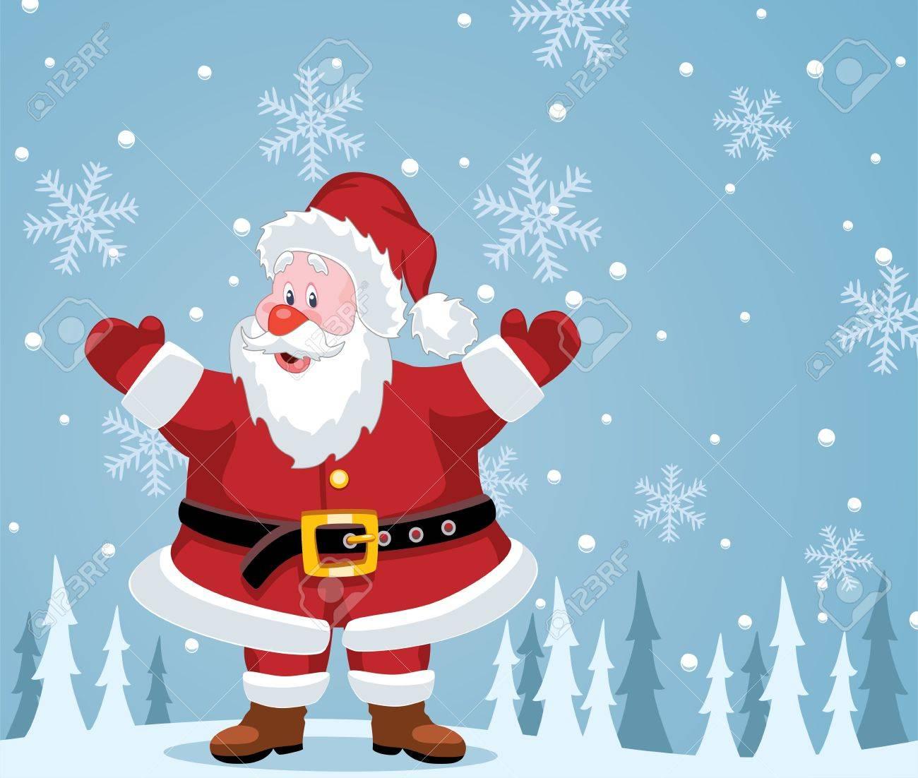 vector christmas illustration of santa claus Stock Vector - 11162036