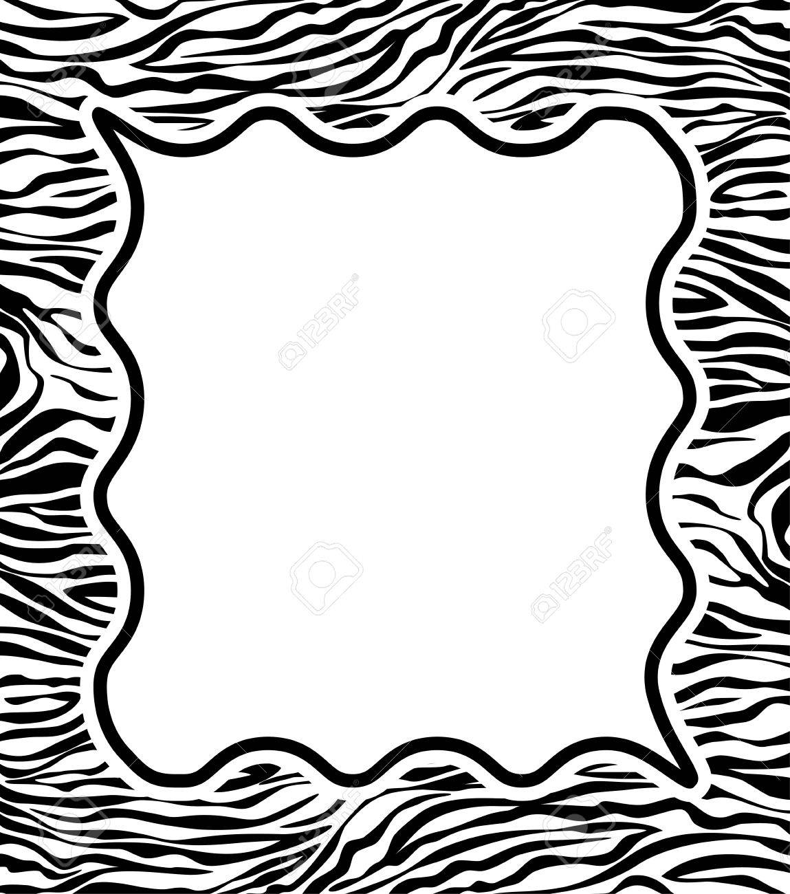 vector frame with abstract zebra skin texture and copy-space Stock Vector - 11162030