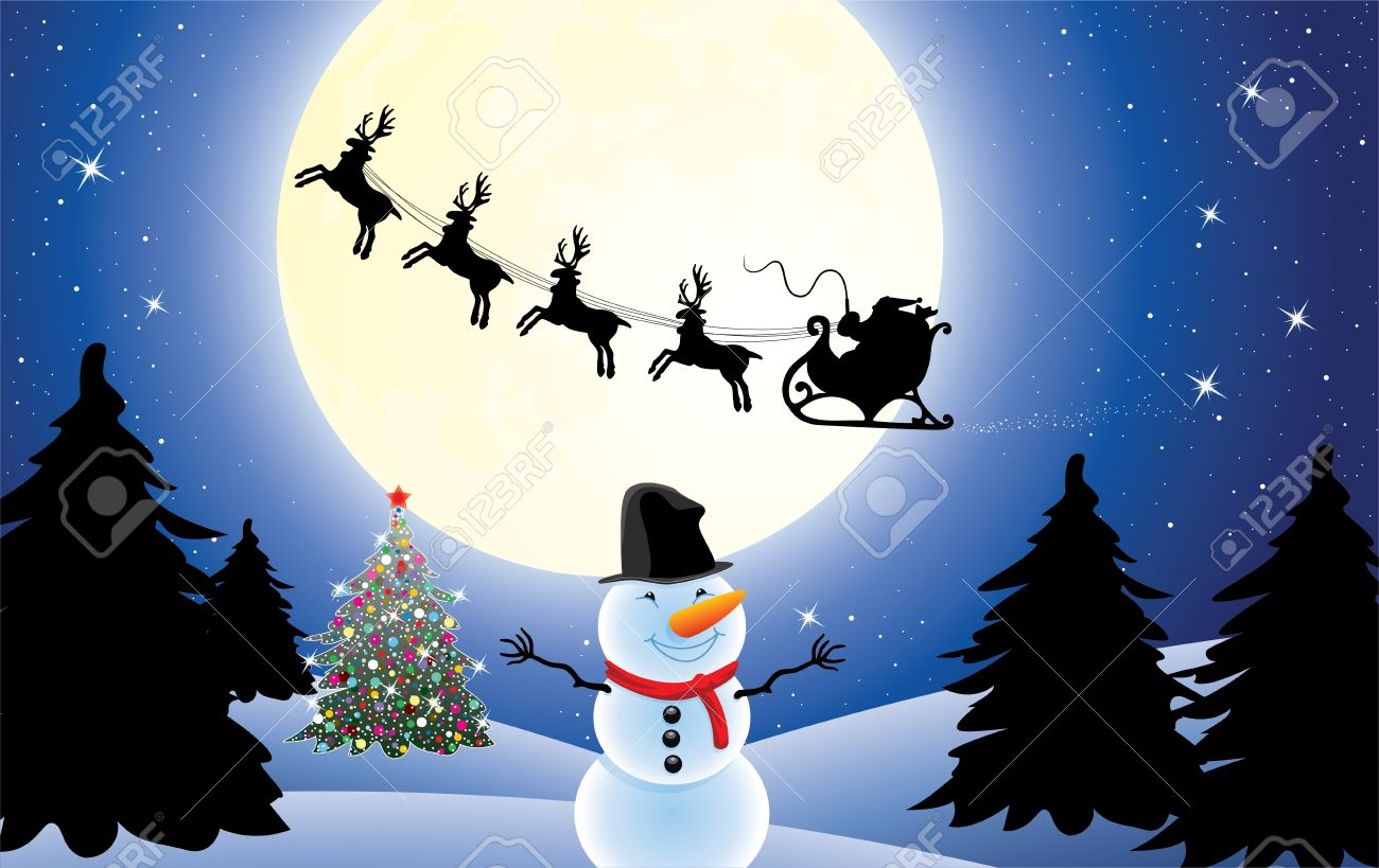 Vector Christmas Holiday Background With Santa Claus Christmas Royalty Free Cliparts Vectors And Stock Illustration Image 11464010