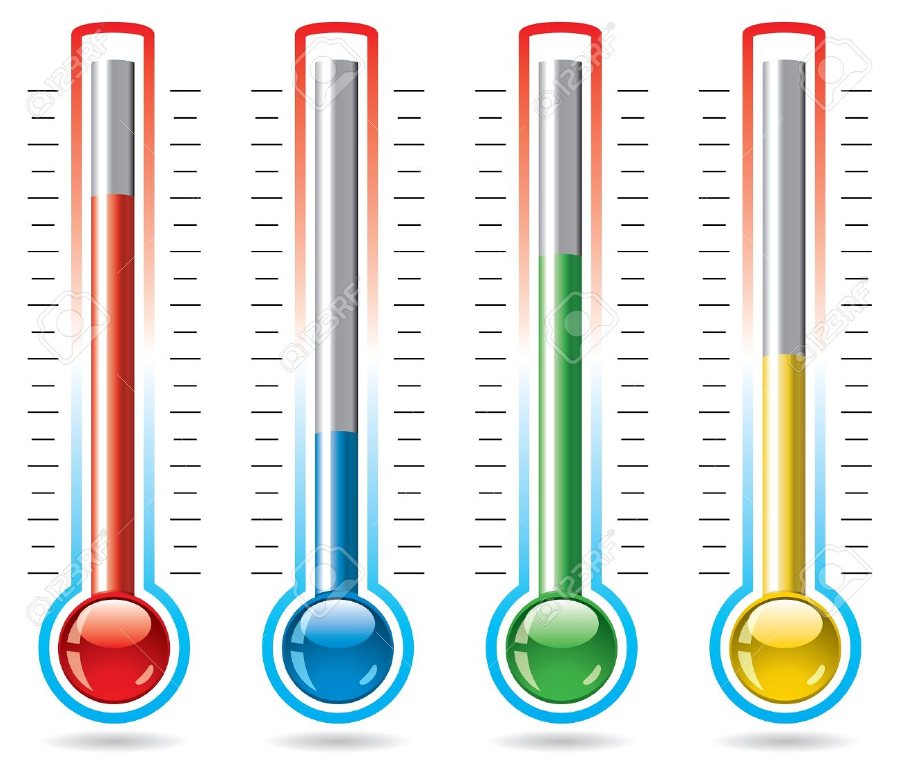 vector illustration of thermometers Stock Vector - 11674561