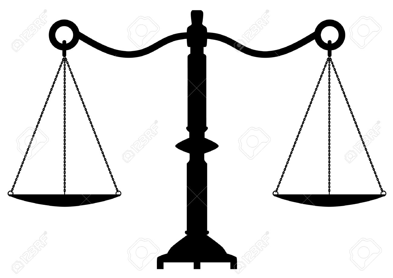 vector antique scales of justice Stock Vector - 11662791