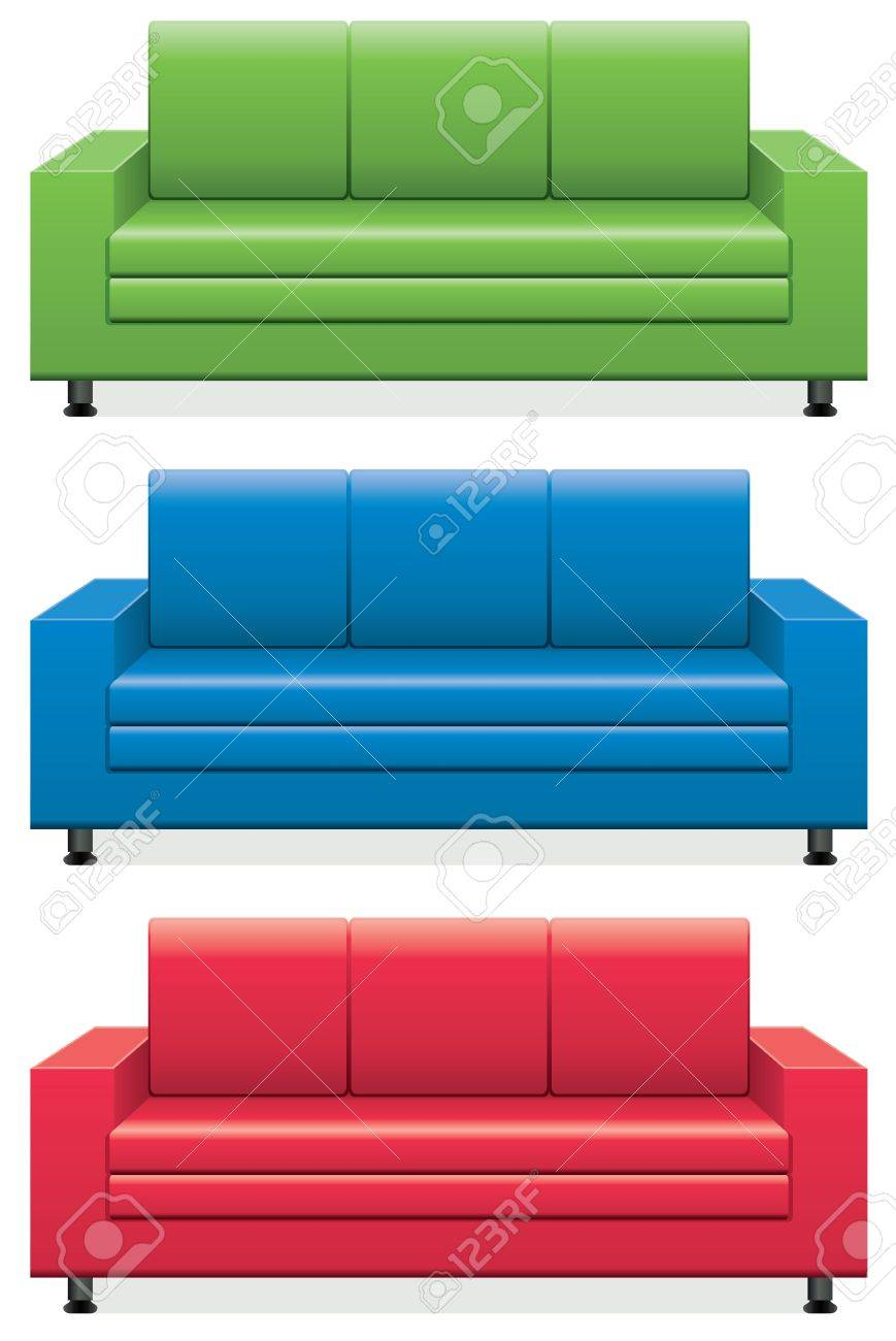 Vector   Vector Set Of Colorful Sofas