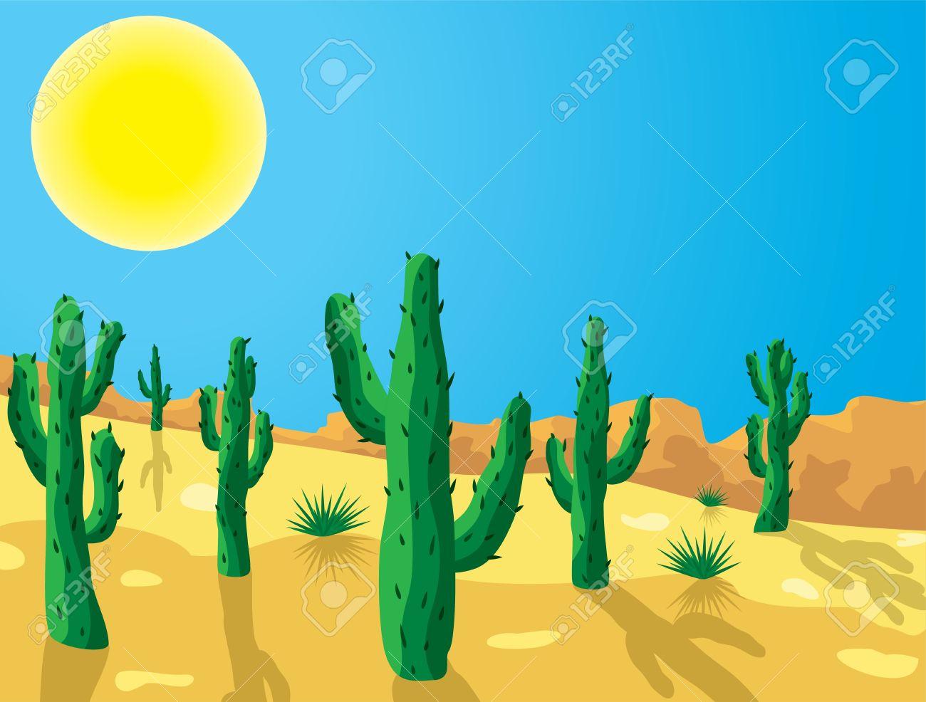 Desert Clipart Cactus