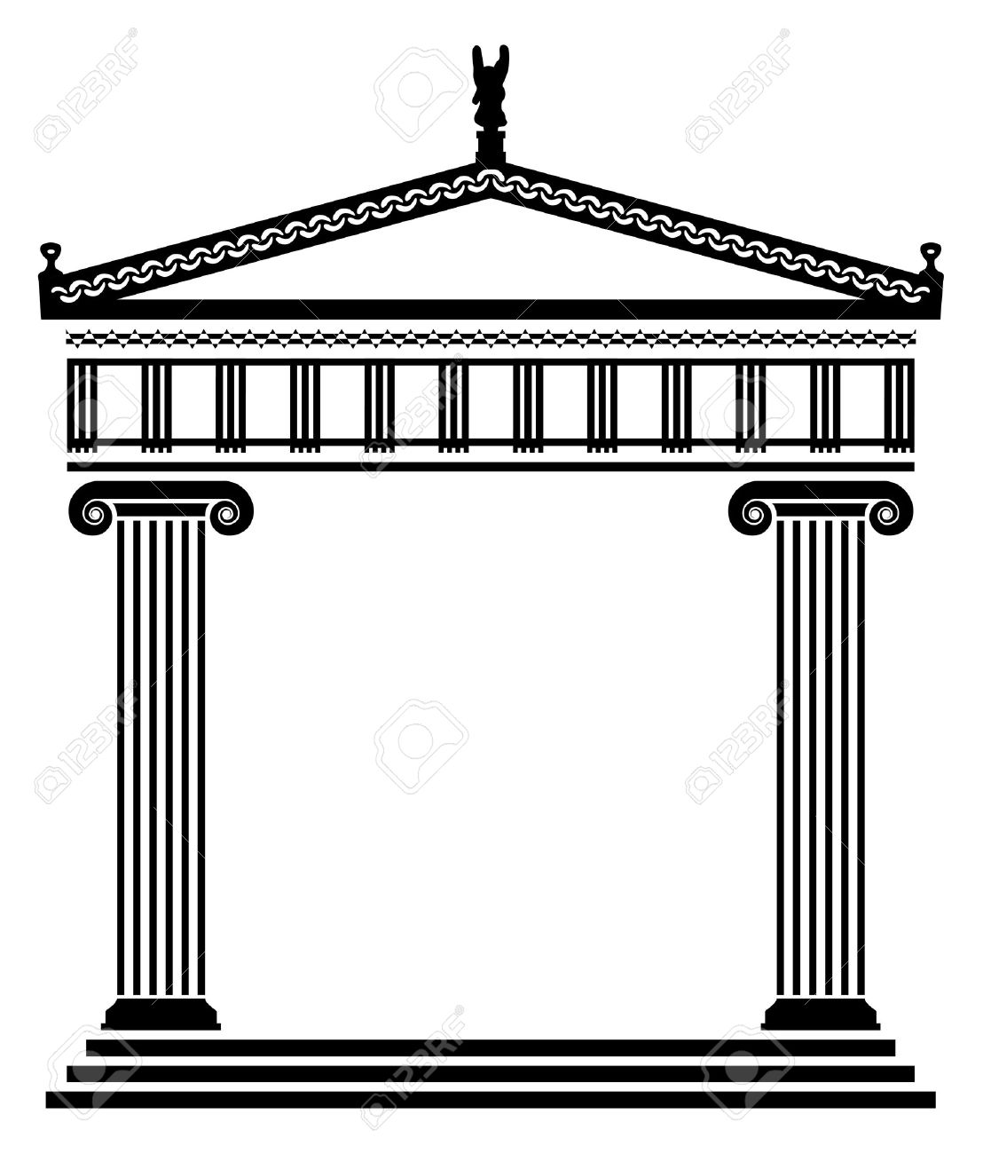 Vector Ancient Greek Architecture With Columns Royalty Free