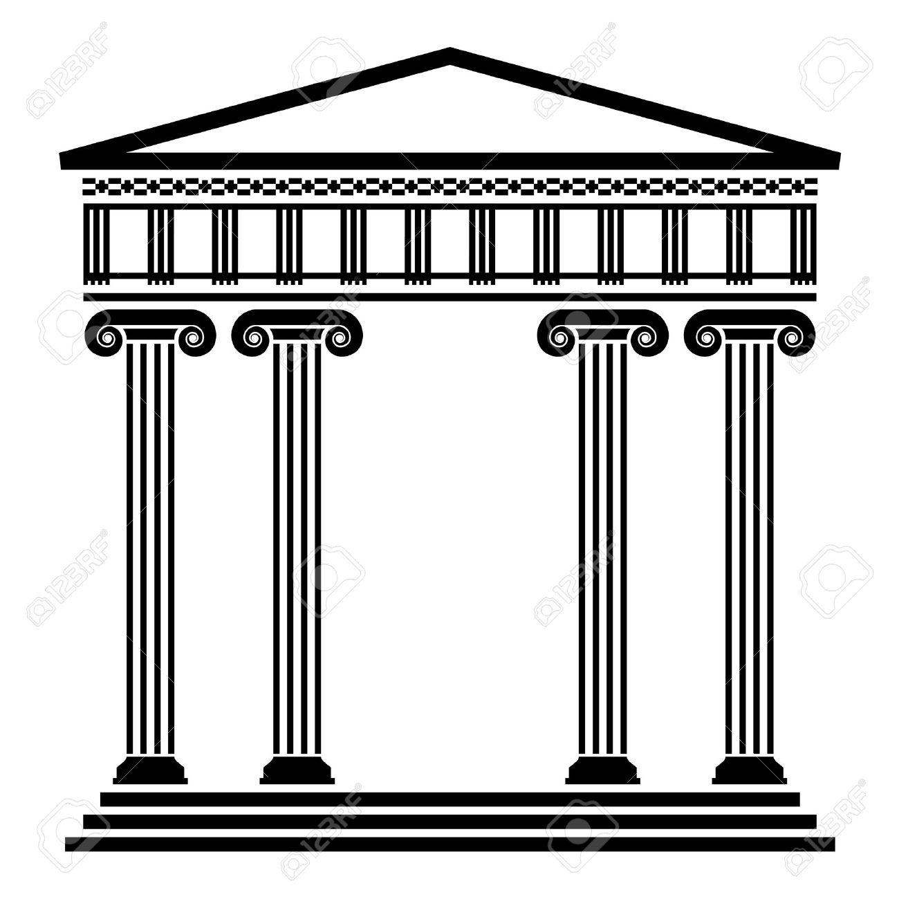 ancient greek architecture  Greek Architecture Clipart