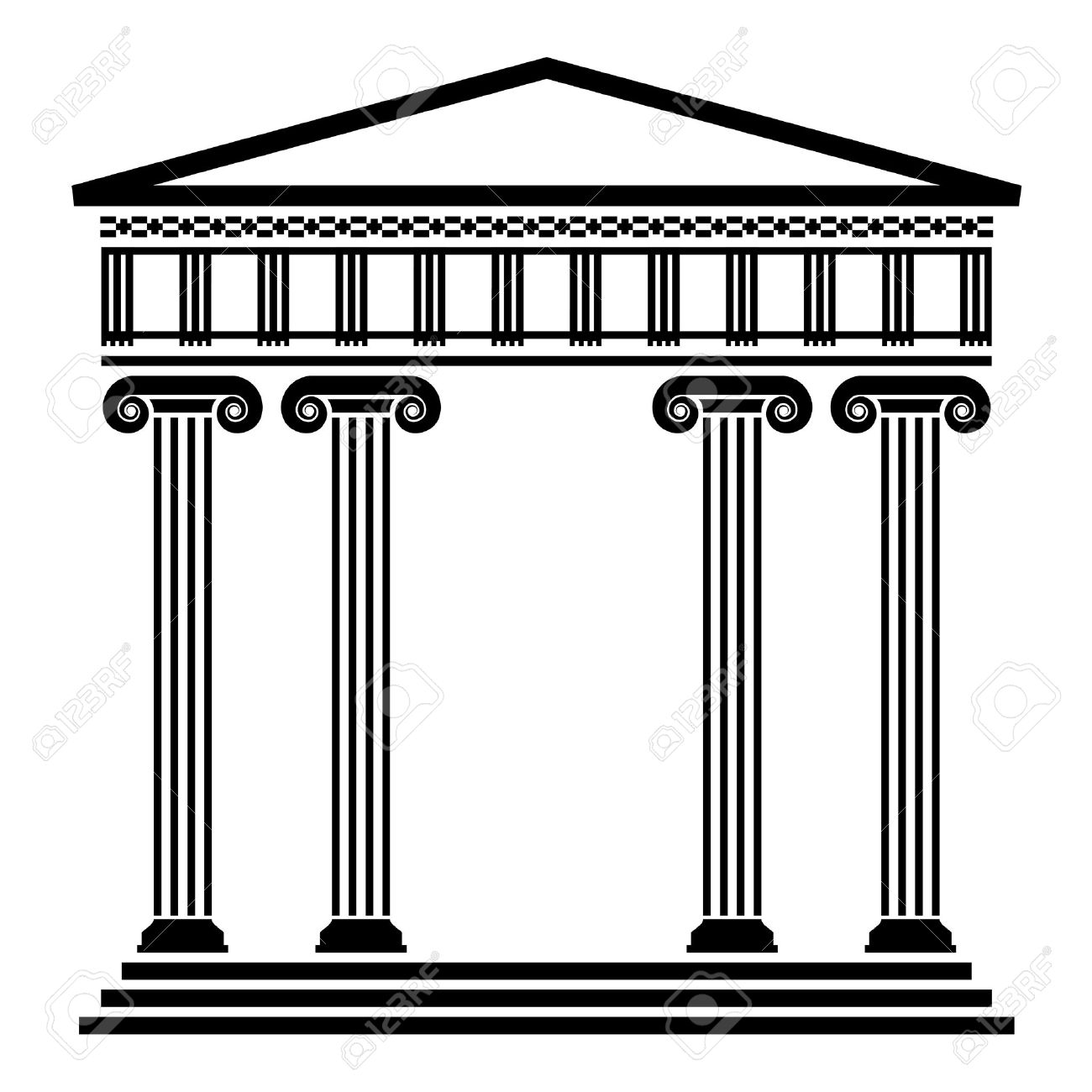 Roman Architecture Columns vector ancient greek architecture with columns royalty free