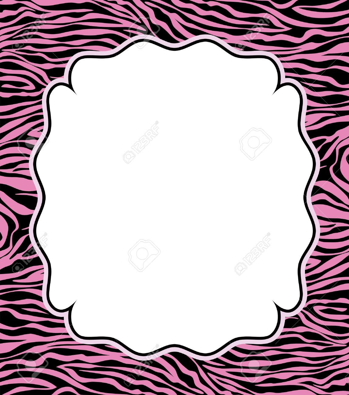 Vector Frame With Abstract Zebra Skin Texture And Copy-space Royalty ...