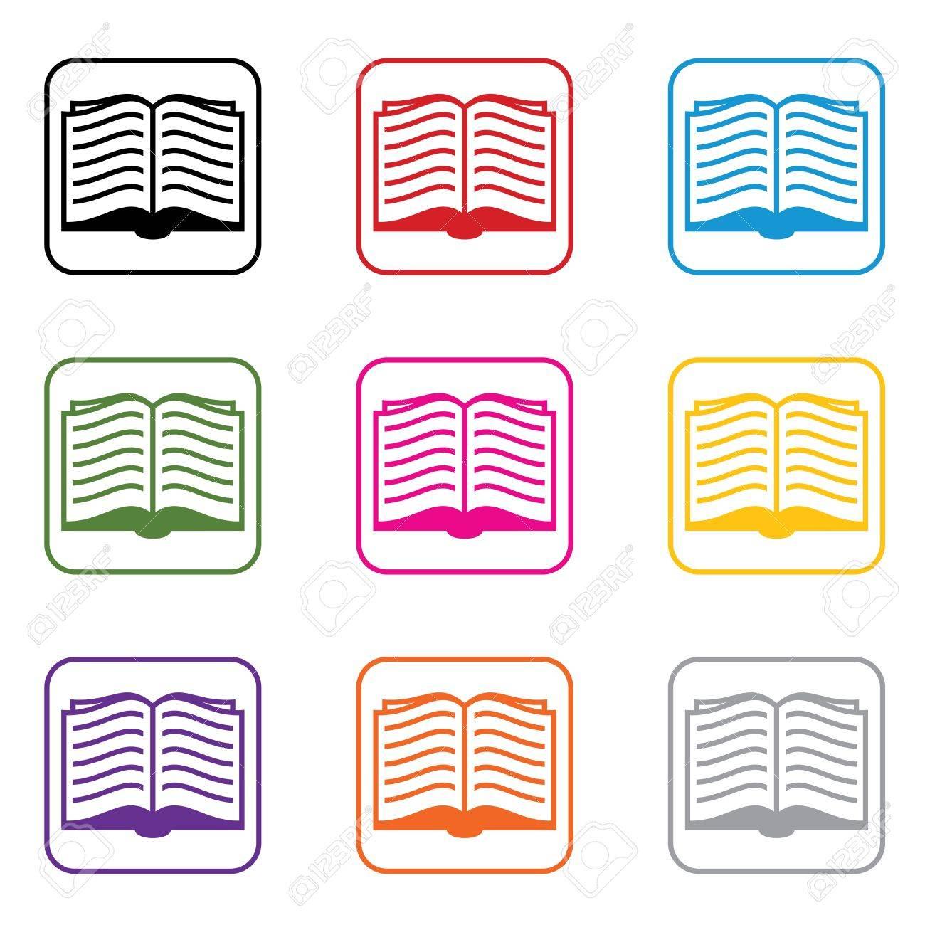 vector set of book symbols Stock Vector - 12927961