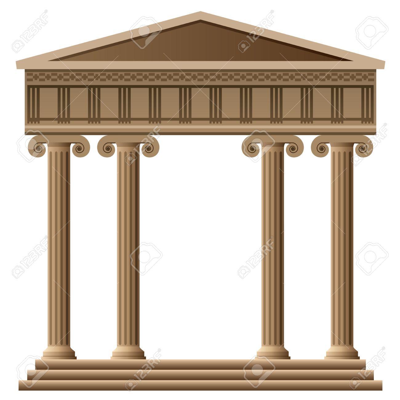 Gold Column Vector With Columns Vector