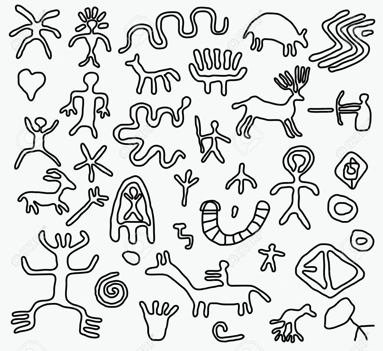 vector ancient petroglyphs Stock Vector - 12927974