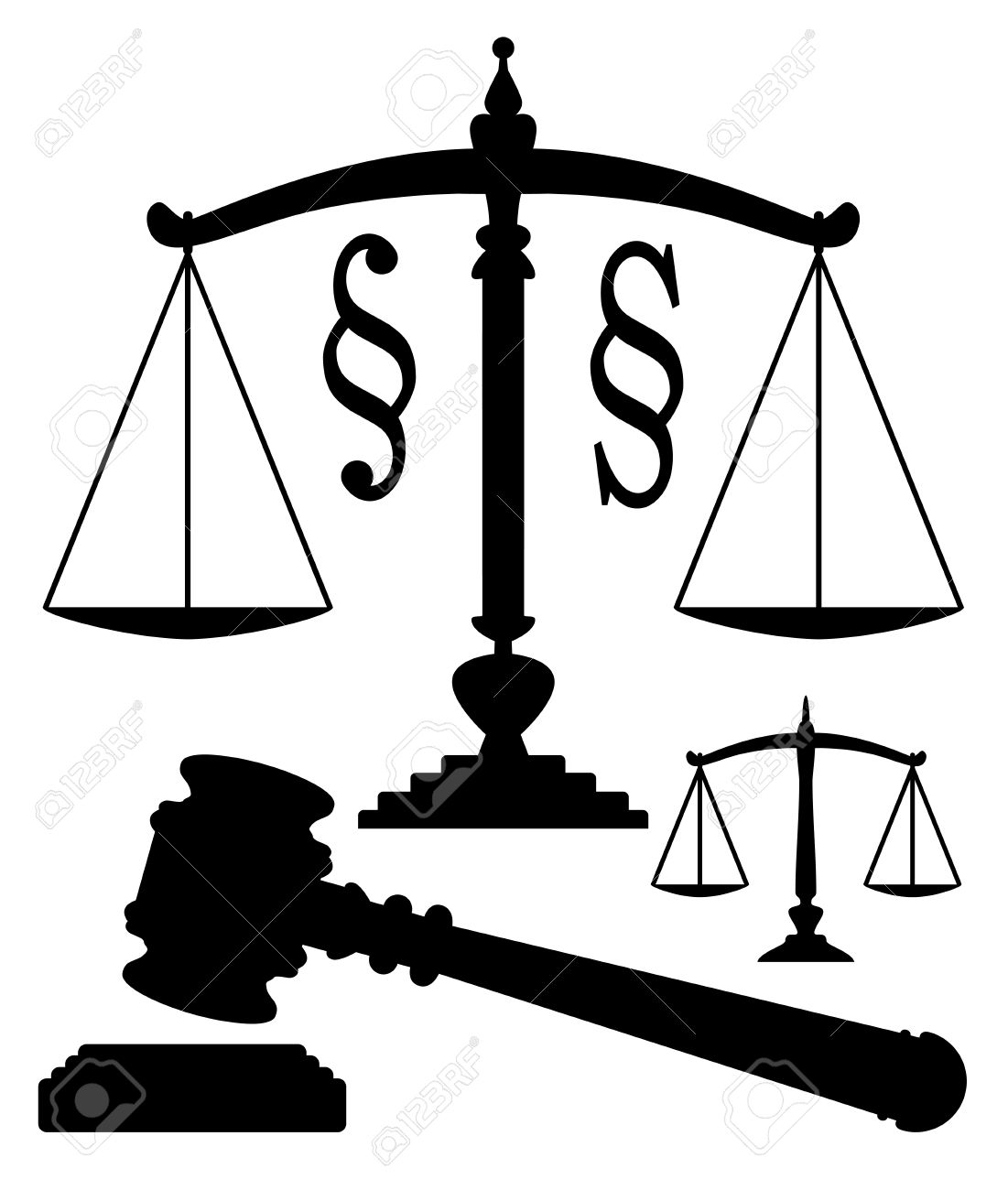 Vector scales of justice gavel and paragraph symbols royalty free vector scales of justice gavel and paragraph symbols stock vector 12927958 buycottarizona