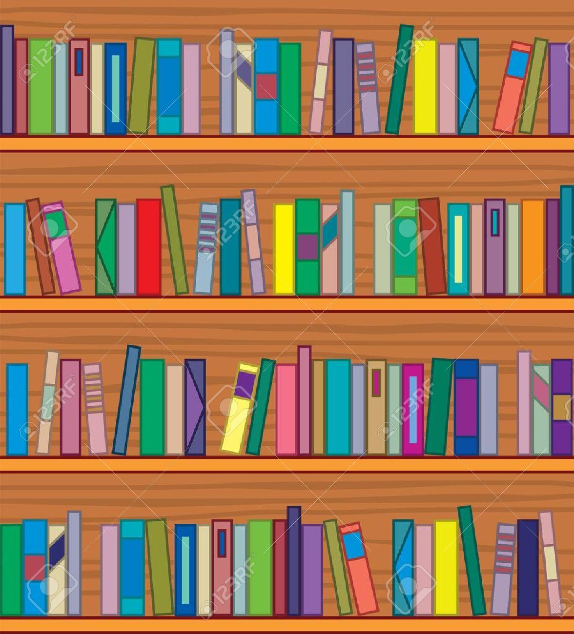Library Bookshelf Clipart library bookshelf  clipart of