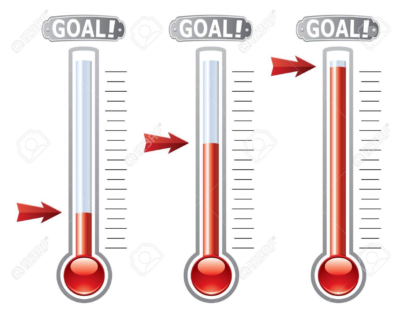 thermometers at different levels Stock Vector - 14064245