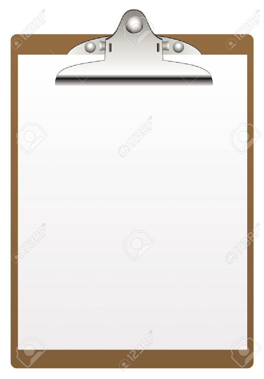 clipboard and paper isolated on white background Stock Vector - 14231339