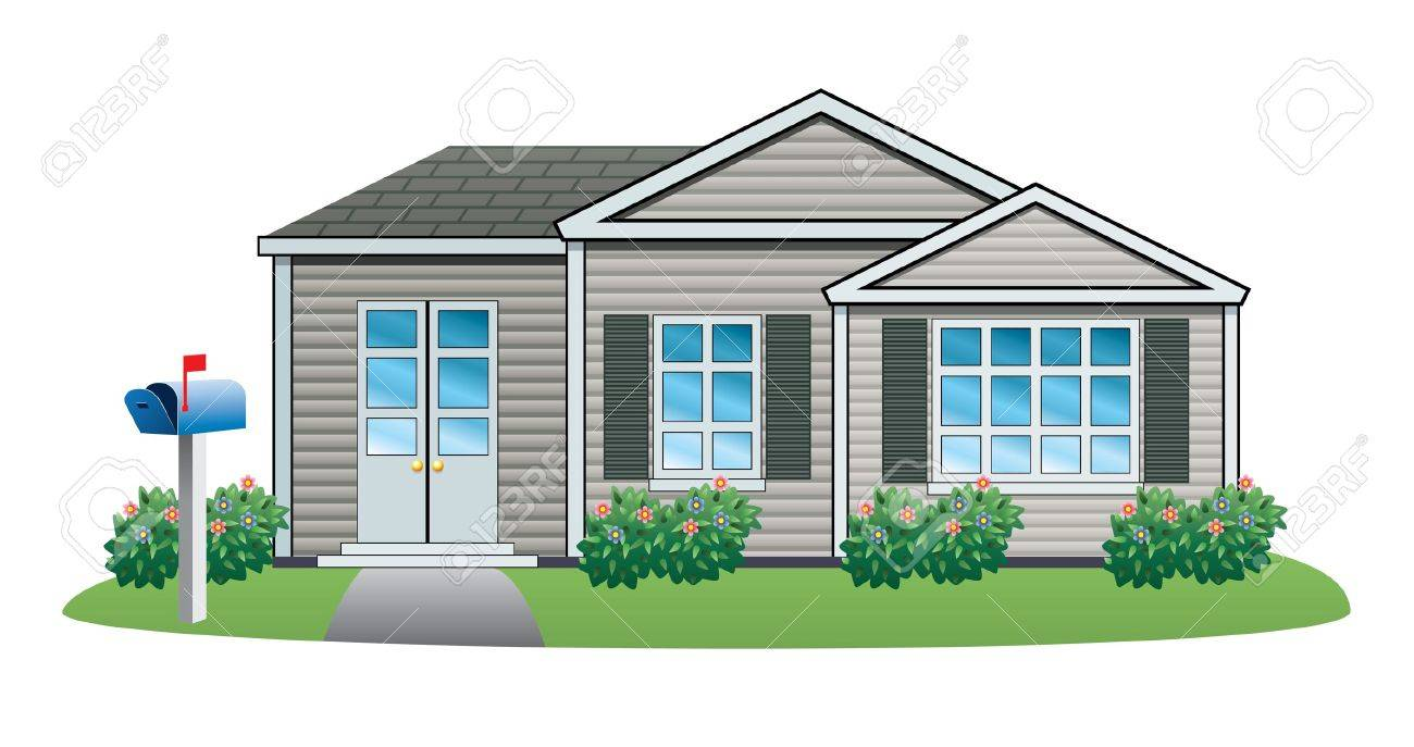 illustration of American house Stock Vector - 18032493