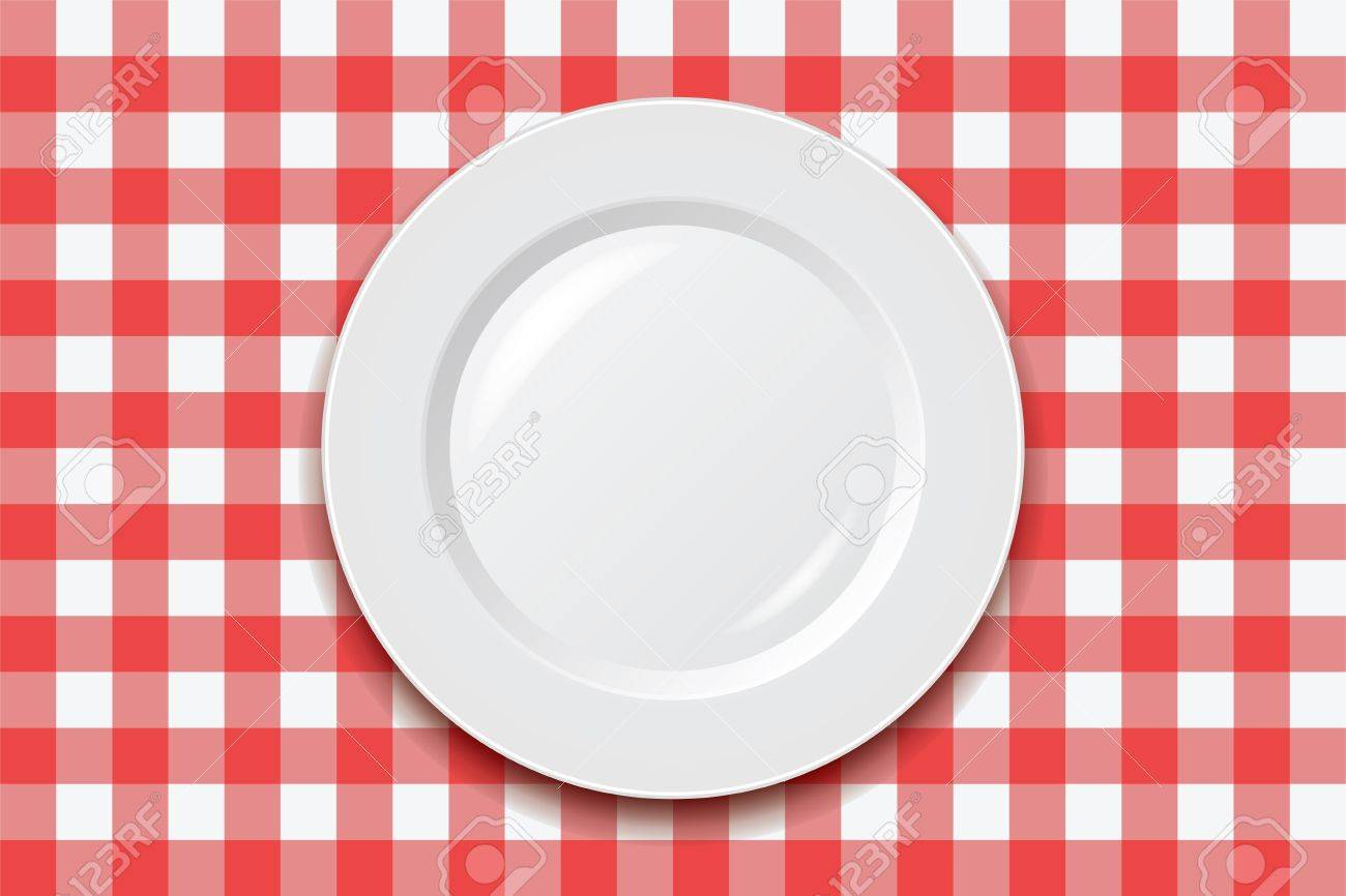 Picnic Table Linens Part   48: Table Linen: Vector Red Picnic Cooking  Tablecloth And