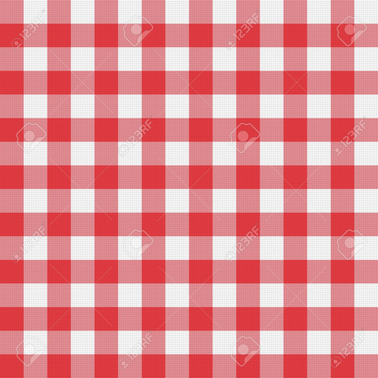 Beau Vector   Vector Red Picnic Tablecloth Pattern