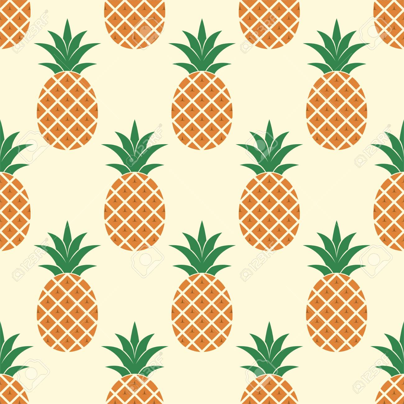 vector seamless pineapple pattern repeating summer background