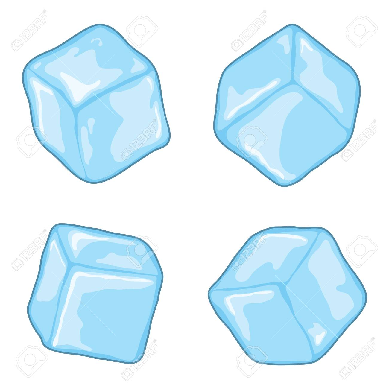 vector ice cubes isolated on white background blue transparent royalty free cliparts vectors and stock illustration image 93569995 vector ice cubes isolated on white background blue transparent