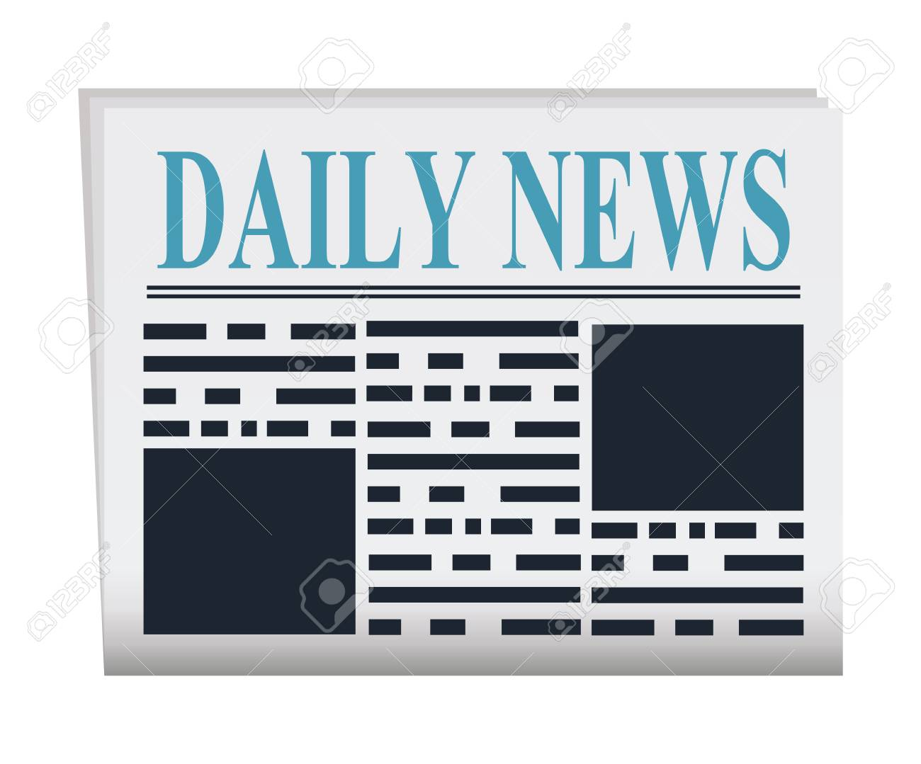 vector newspaper illustration. news paper template isolated on