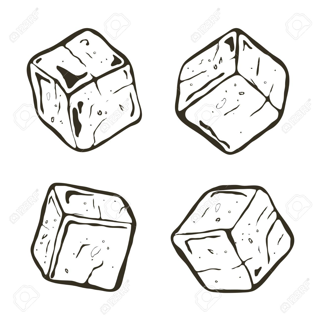 vector black and white ice cubes transparent ice cube chunks royalty free cliparts vectors and stock illustration image 105536734 vector black and white ice cubes transparent ice cube chunks
