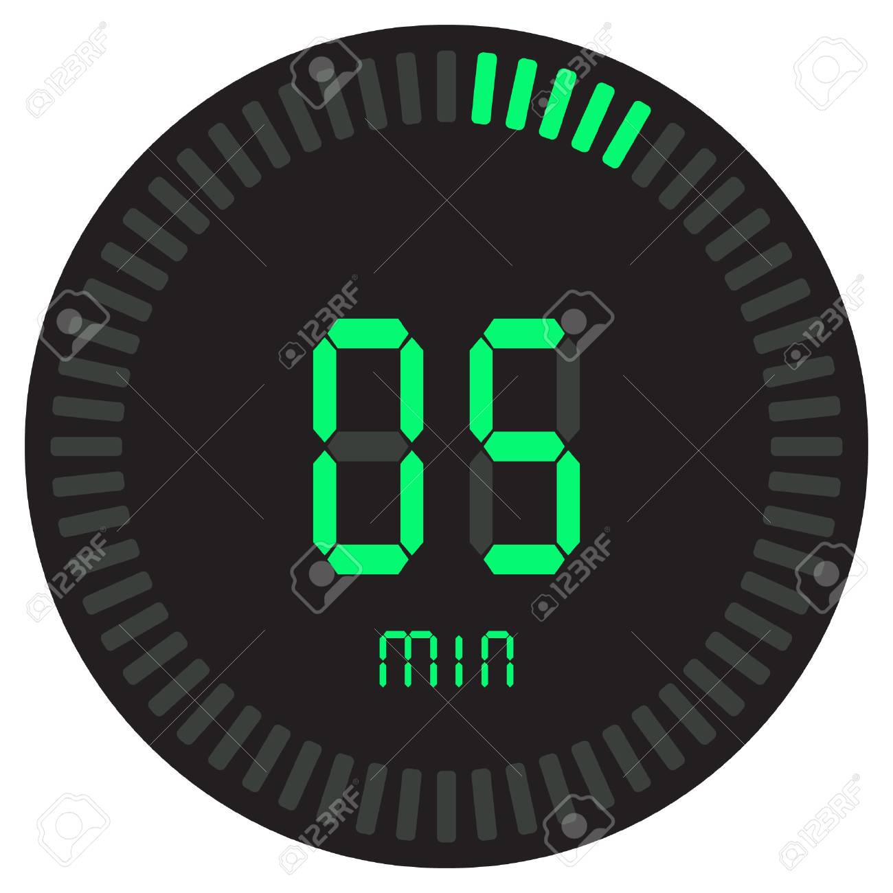the green digital timer 5 minutes electronic stopwatch with