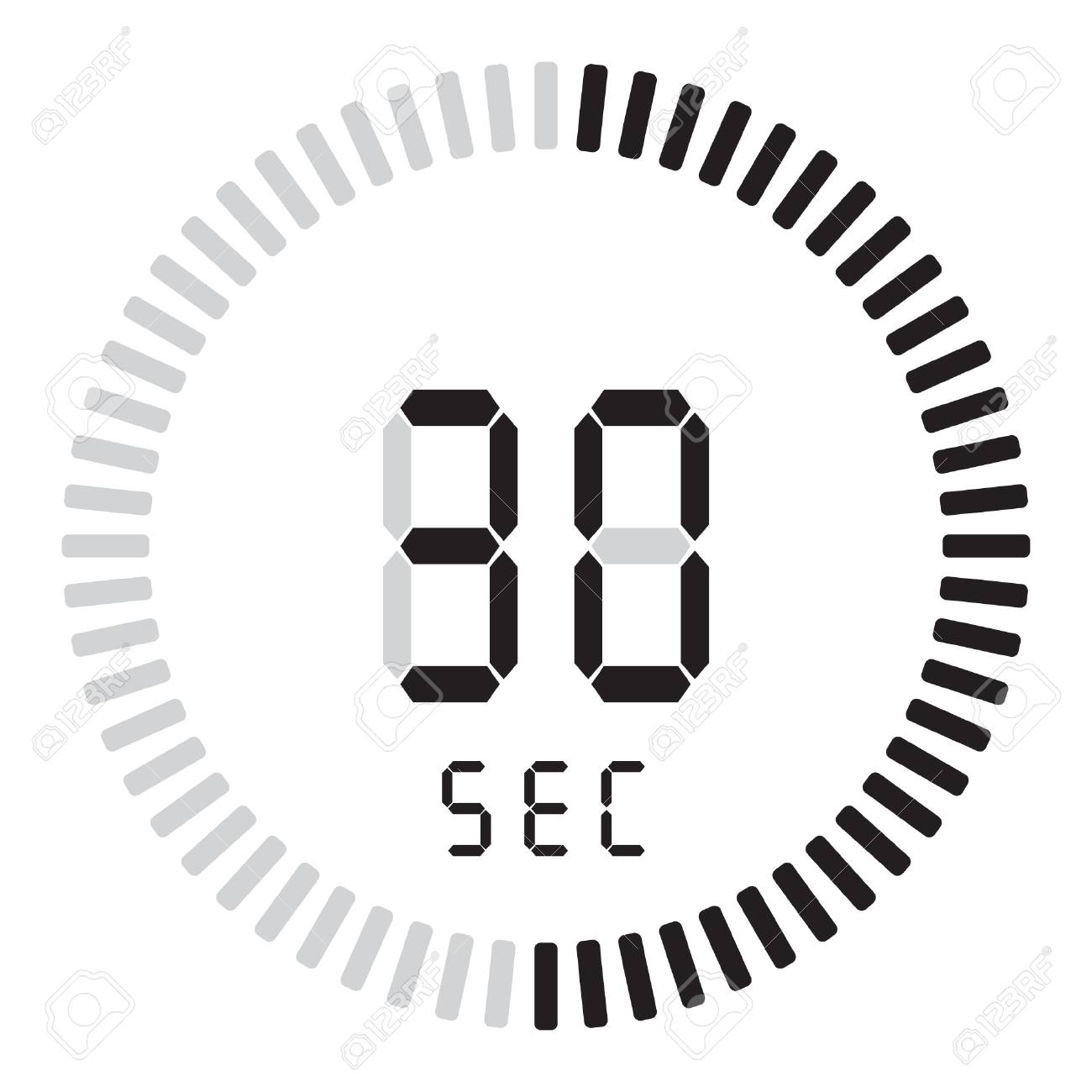 The digital timer 30 seconds. electronic stopwatch with a gradient dial - 110535763