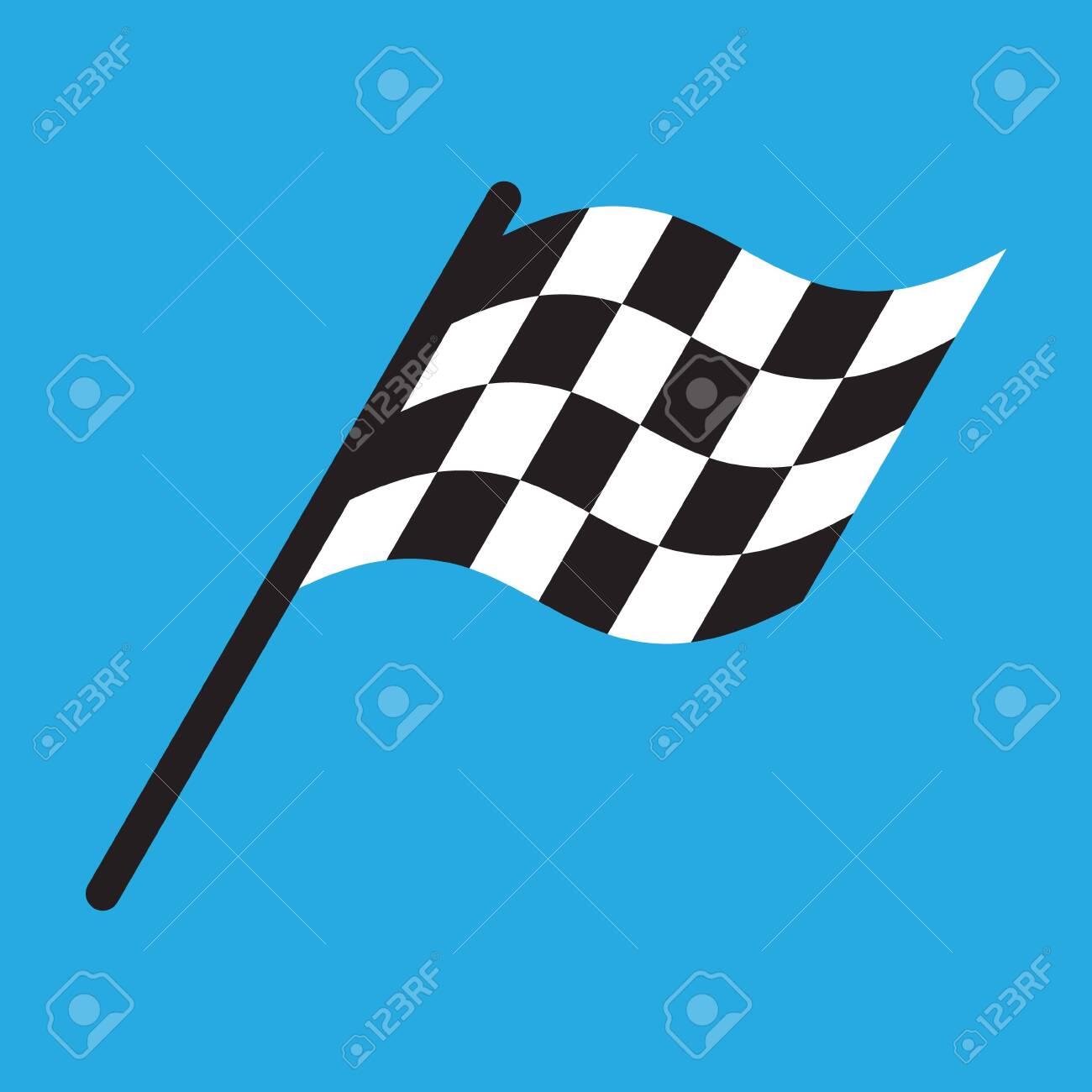 Race flag simple design illustration vector - 121501495