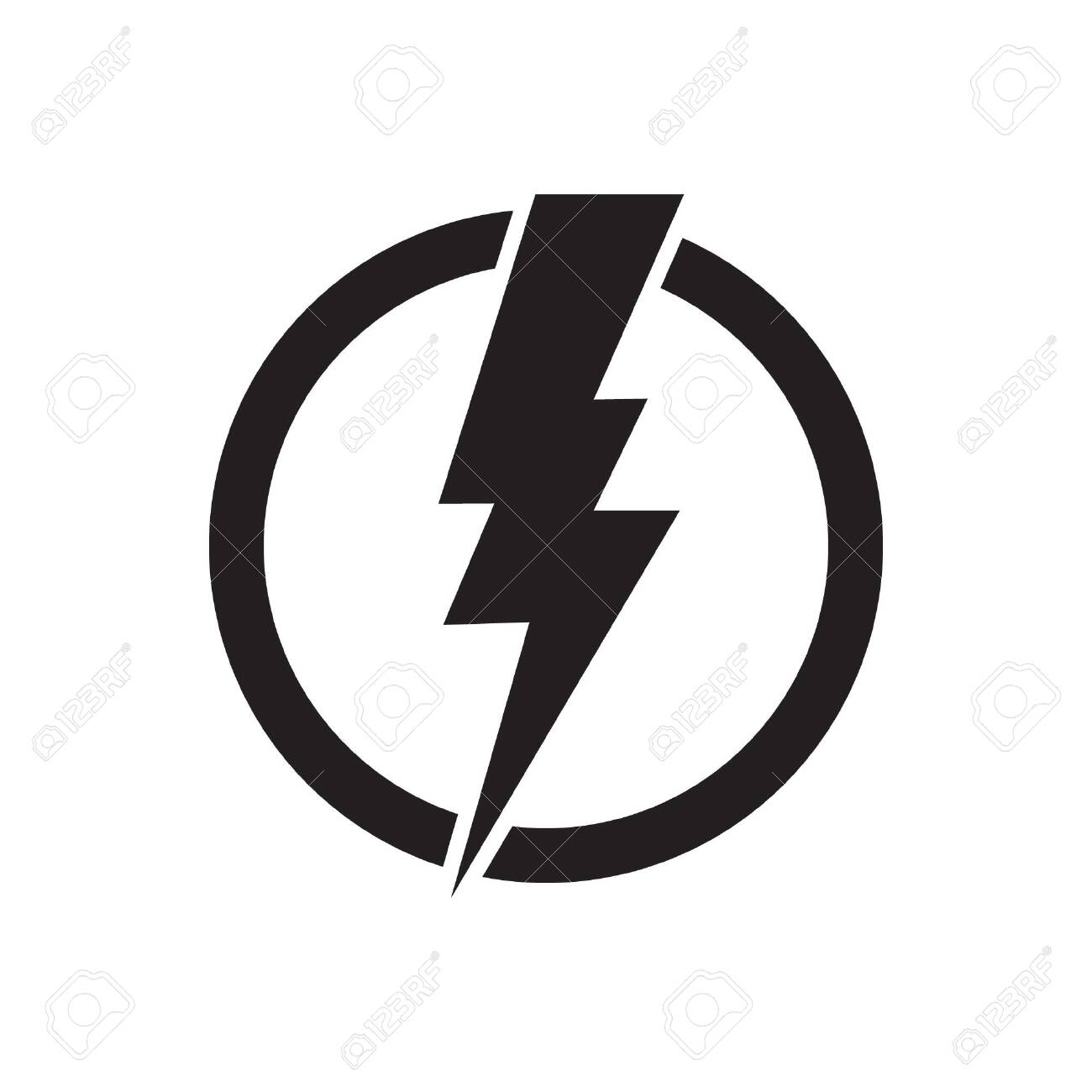 Lightning Bolt, Electricity Power Vector Icon Royalty Free ...