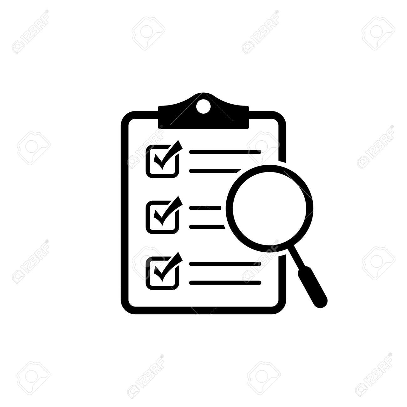 Magnifier assessment checklist icon - 157063222