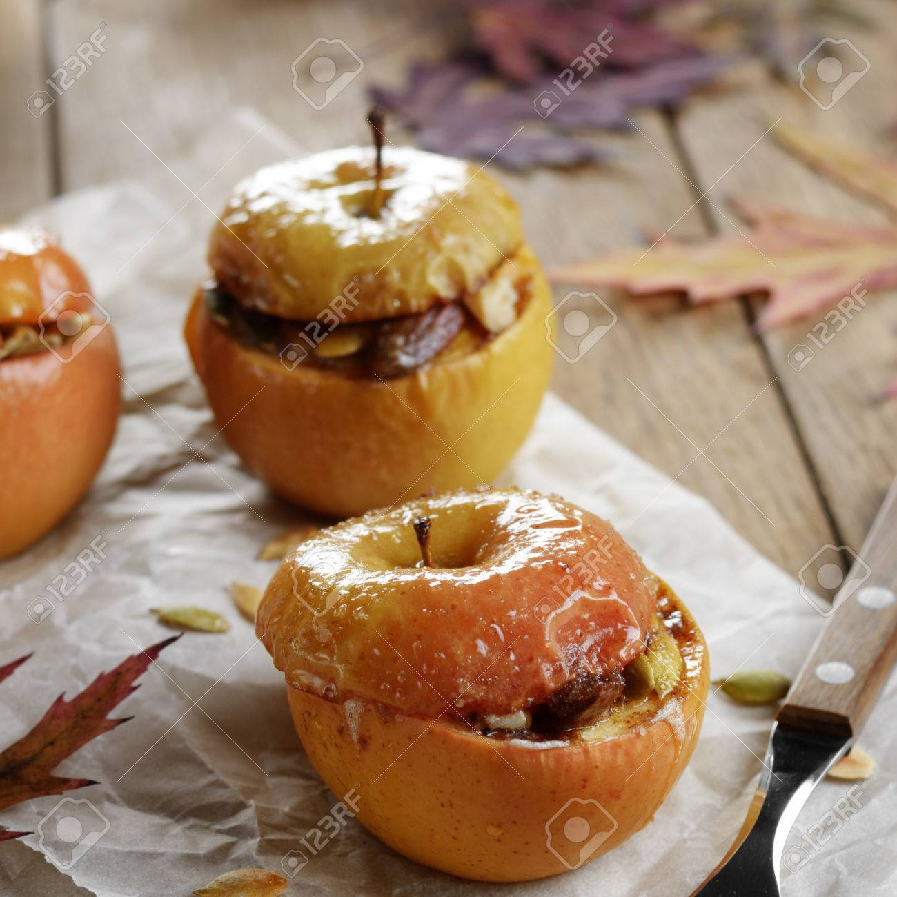 Baked apples with cottage cheese - a favorite dessert 53