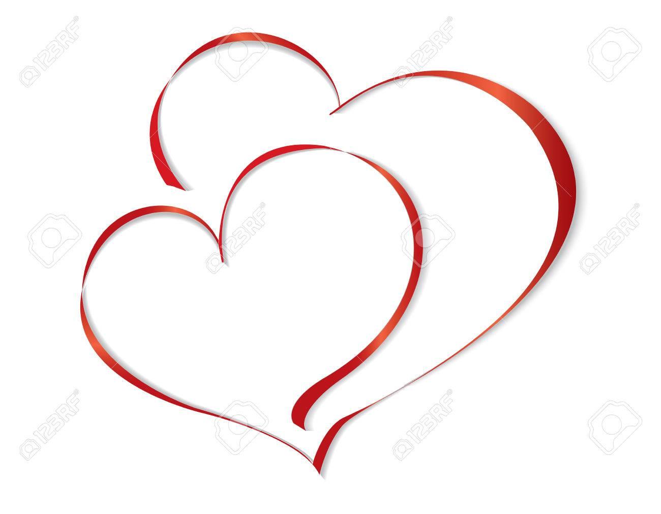 two lovers heart vector illustration royalty free cliparts vectors rh 123rf com free heart vector ai free heart vector icon