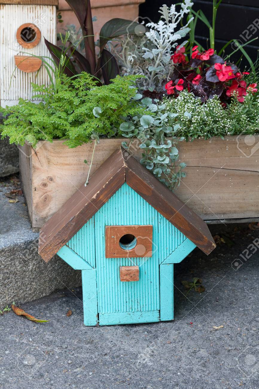 Enjoyable Ornaments In The Form Of A Beautiful Birdhouse At The Store Home Interior And Landscaping Palasignezvosmurscom