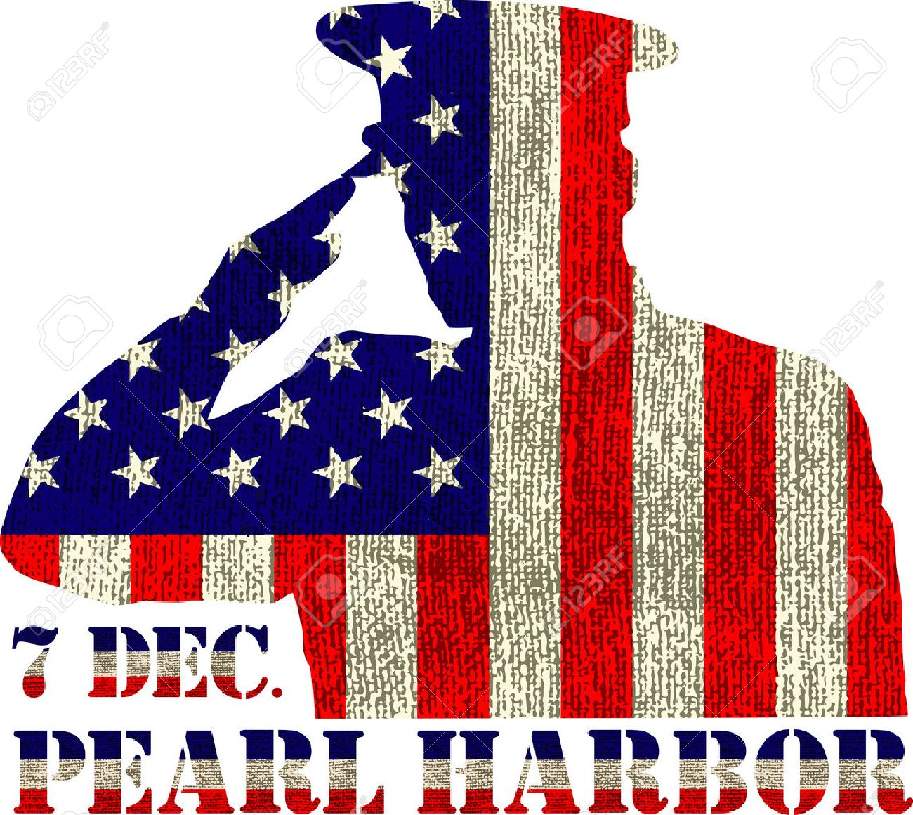 pearl harbor remembrance day vector illustration patriotic