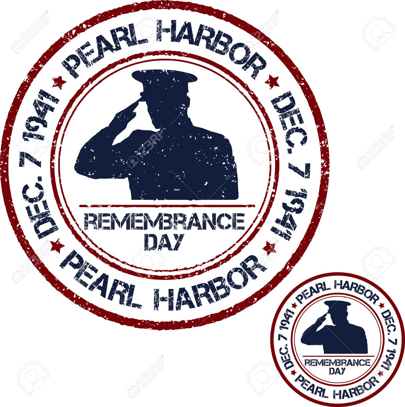 Pearl Harbor. Remembrance day. Vector illustration Patriotic stamps Stock Vector - 49409361